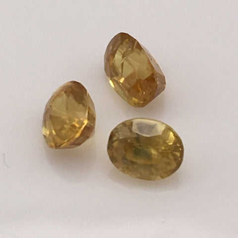 2 carat Green Thai Sphene Gemstone Set - Colonial Gems