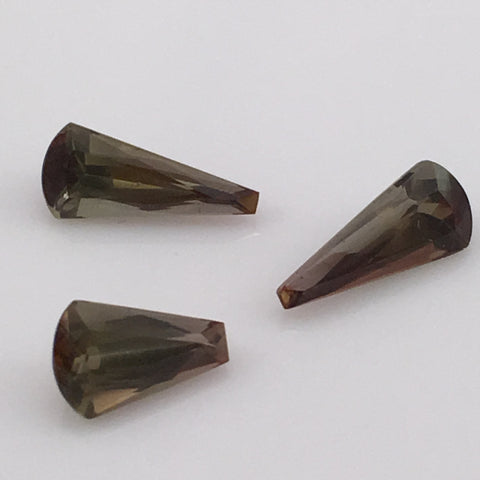 5.5 carat set of tower cut Andalusite Gemstones - Colonial Gems