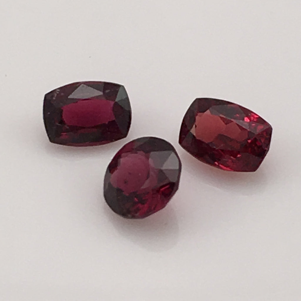 3.1 carat set of Red Spinel Gemstones - Colonial Gems