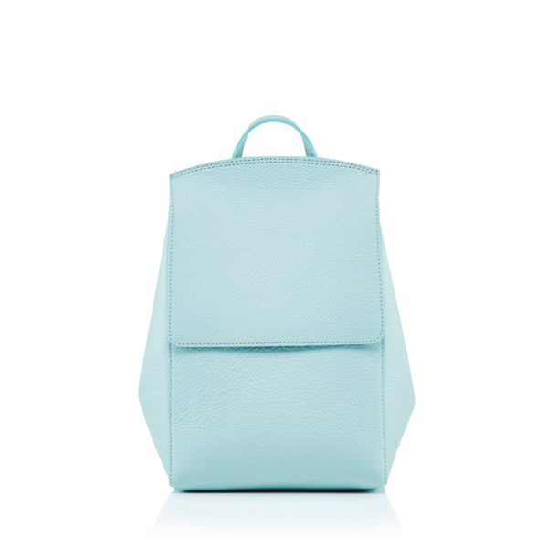 Small Rucksack in aqua leather