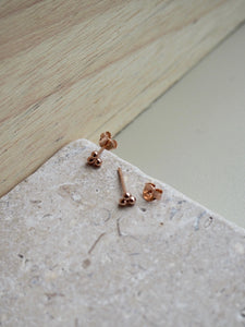 Rose gold mini trio stud