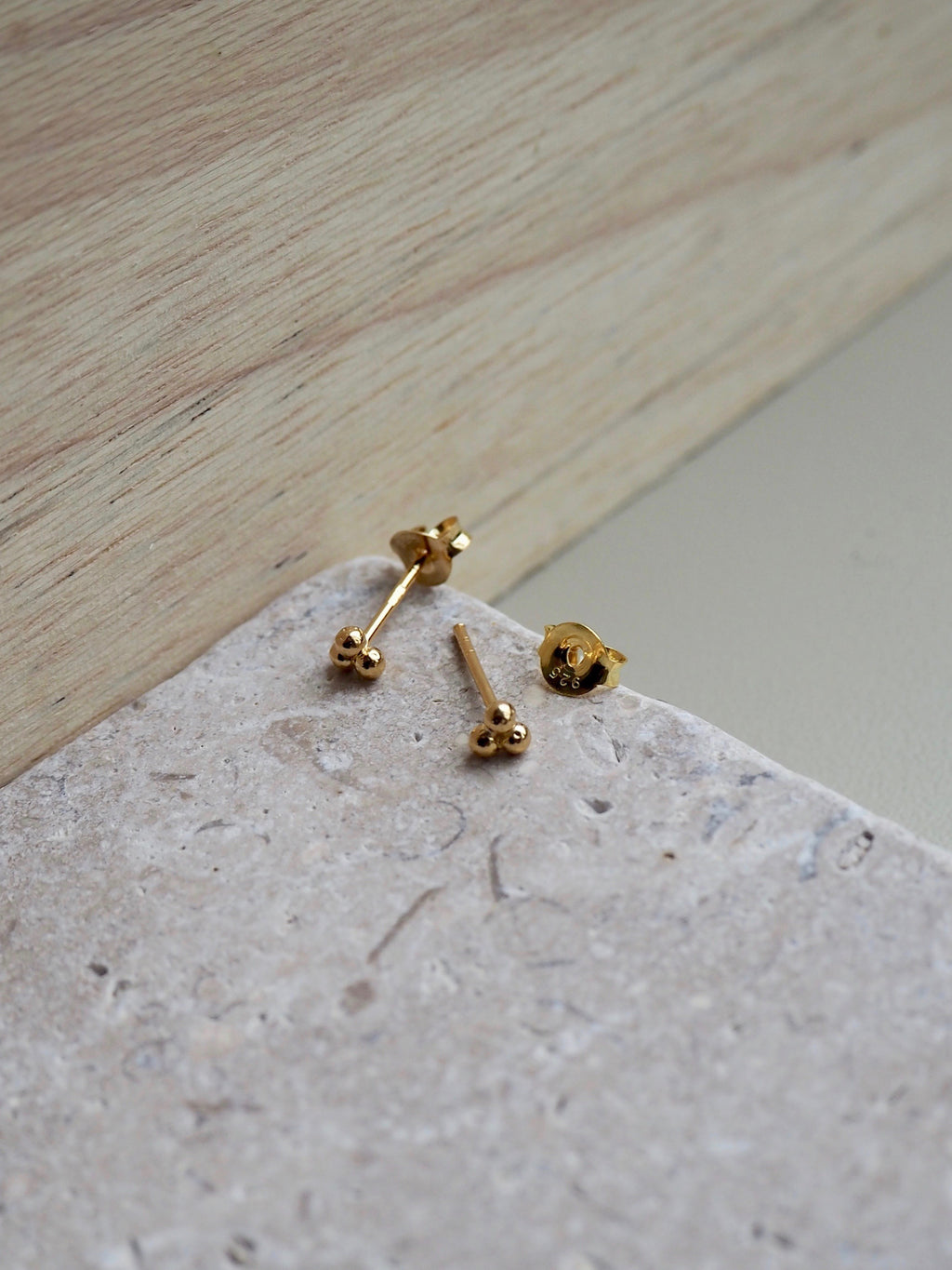 Gold mini trio stud