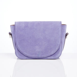 Mini Trio Clutch in lavender suede
