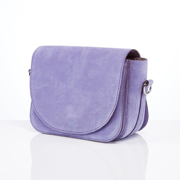 Mini Trio in lavender suede