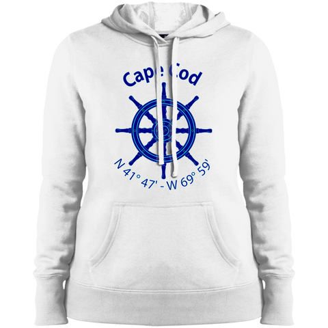 Cape Cod Nautical Coordiantes Ladies' Hoodie