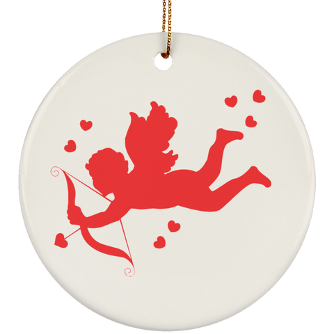 Cupid Ceramic Ornament