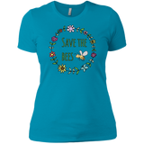 Save The Bees Flower Garland Ladies' Short Sleeve T-Shirt