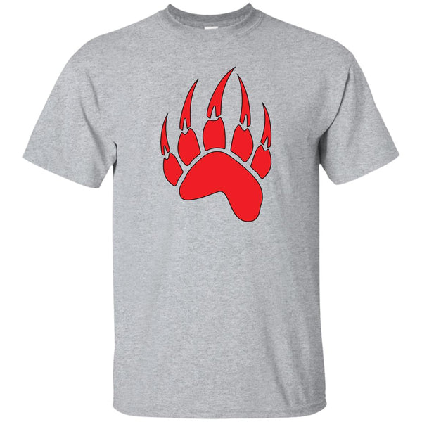Red Bear Paw Native American Spirit Animal T-Shirt (Unisex)