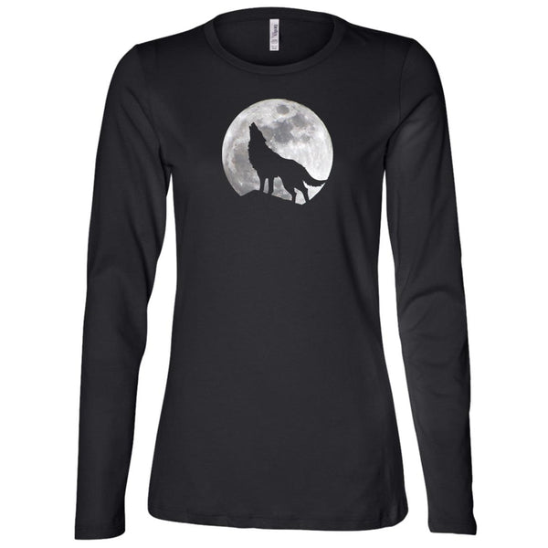 Wolf Moom Ladies' Long Sleeve T-Shirt