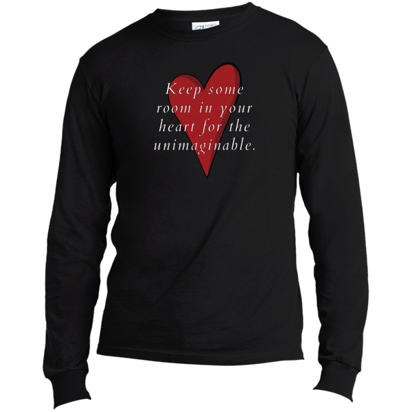 Mary Oliver Quotable Red Heart Long Sleeve T-Shirt For Poetry Lovers (Unisex)