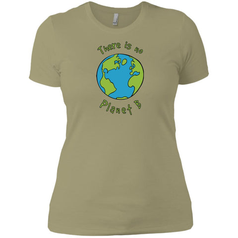 No Planet B Ecological Awareness Ladies Short Sleeve T-Shirt