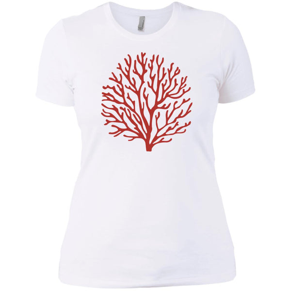 Corallium Red Coral Ladies' Short Sleeve T-Shirt
