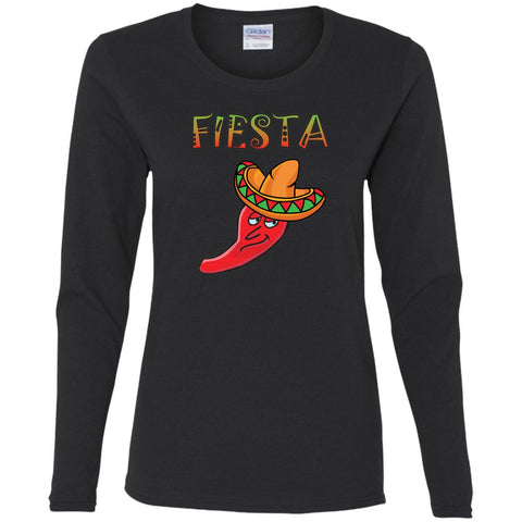 Hot Chili Pepper Ladies' Long Sleeve Fiesta T-Shirt