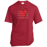 Mary Oliver Quotable Red Heart T-Shirt For Poetry Lovers (Unisex)