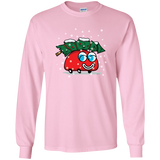 Happy Red car And Christmas Tree Long Sleeve T-Shirt (Unisex)