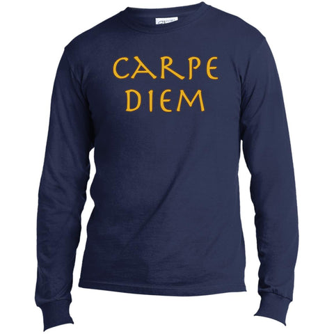 Carpe Diem Men's Long Sleeve Motivational T-Shirt
