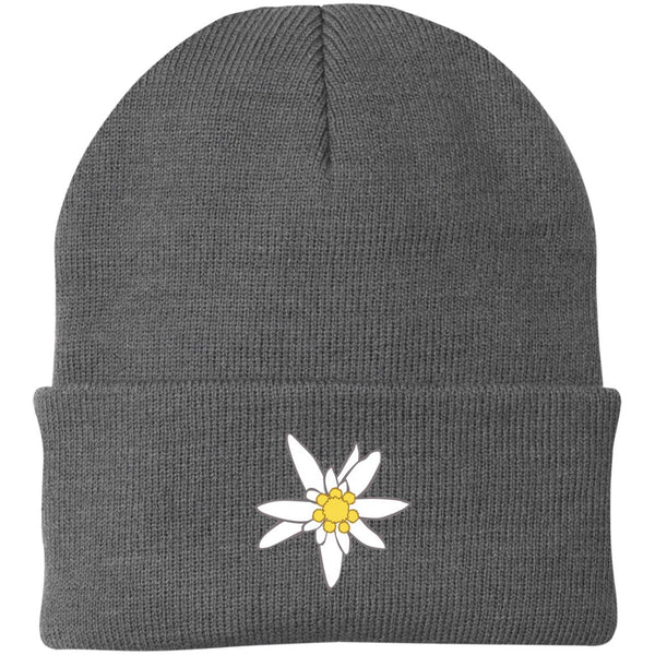 Edelweiss Embroidered Knit Cap