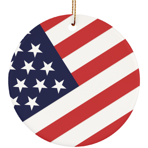 Stars And Stripes Patriotic Americana Ceramic Ornament