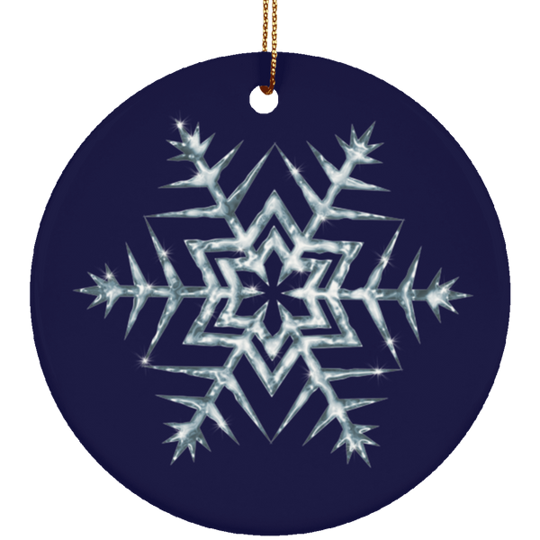 Frozen Icy Snowflake Limited Edition Ceramic Ornament