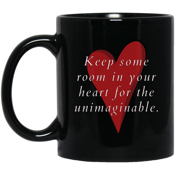Mary Oliver Quotable Black Mug For Poetry Lovers