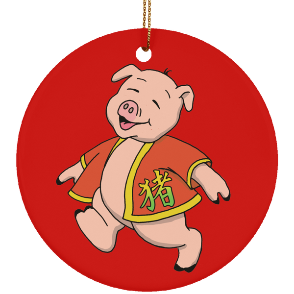 2019 Year of the Pig Ceramic Ornament