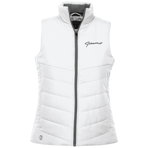 Jimmo Signature Embroidered Quilted Ladies' Vest