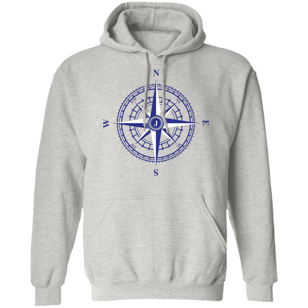 Compass Rose Nautical Unisex Pullover Hoodie