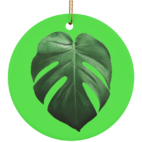 Monstera Deliciosa Ceramic Tropical Leaf Ornament