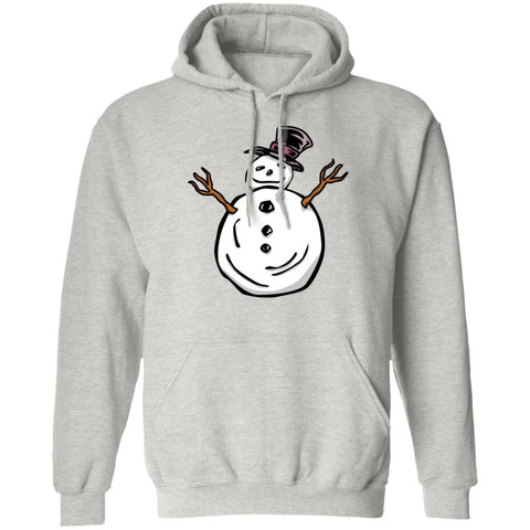 Funny Snowman Unisex Pullover Hoodie For Winter Lovers