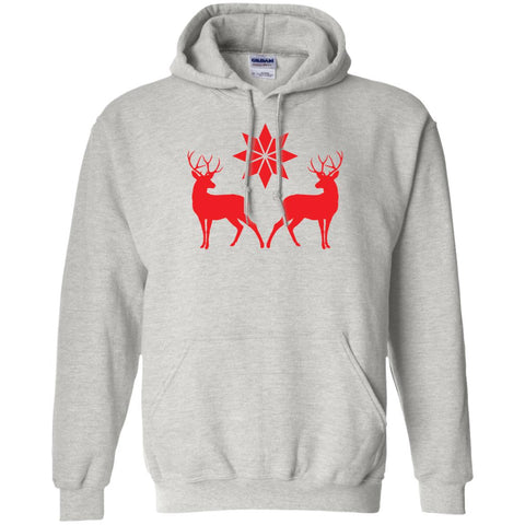 Nordic Style Deer And Star Pullover Hoodie