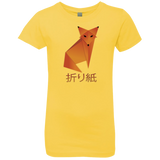 Origami Fox Girls' Kanji Calligraphy T-Shirt
