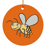 Bee Lovers Cute Honey Bee Ceramic Ornament