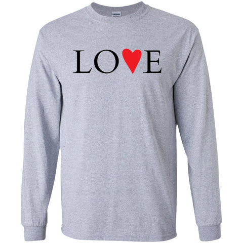 LOVE Inspirational Red Heart Long Sleeve T-Shirt (Unisex)