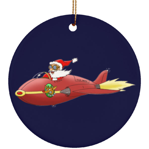 Supersonic Santa Limited Edition Christmas Ornament