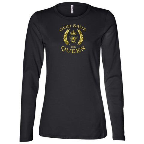 God Save The Queen Bee Lovers Ladies' Long Sleeve T-Shirt