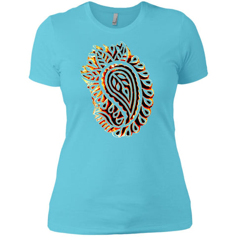 Indian Spice Market Paisley Wood Print Ladies' T-Shirt