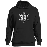 White Snowflake Tall Pullover Hoodie