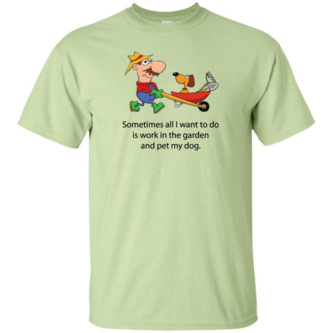 A Dog and His Gardener - Short Sleeve T-Shirt (Unisex)