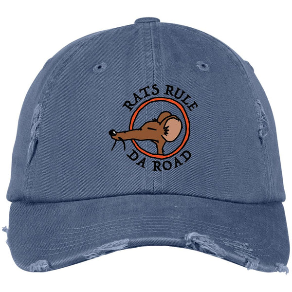 Rats Rule Da Road Distressed Dad Cap