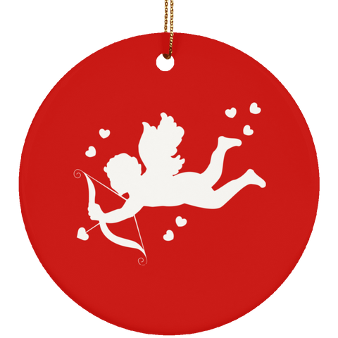 Cupid Ceramic Love Is In The Air Ornament