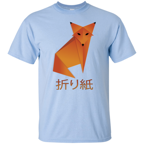 Origami Fox Japanese Calligraphy Youth T-Shirt