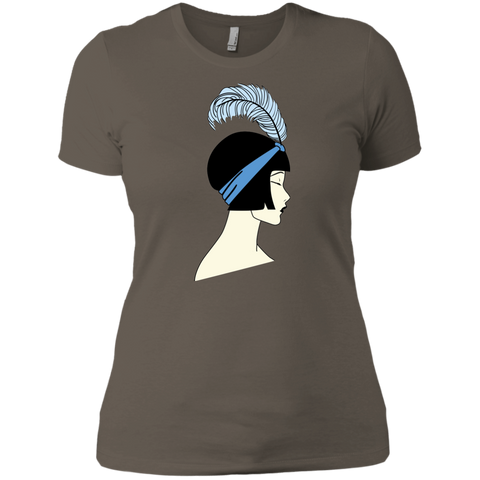 Flapper Girl Ladies' Short Sleeve Art Deco T-Shirt