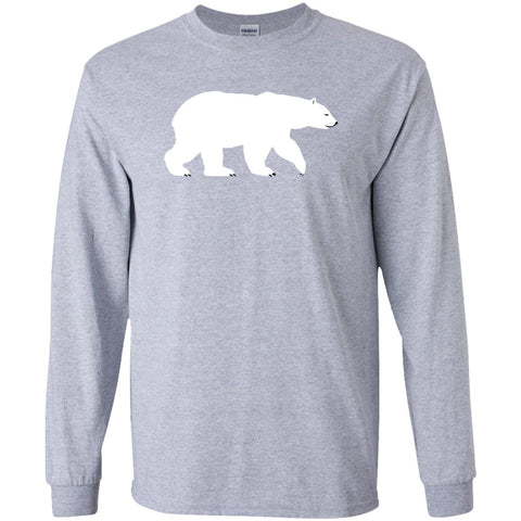 Polar Bear Animal Print Long Sleeve Unisex T-Shirt