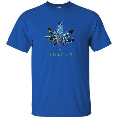 Psychedelic 420 Trippy Leaf Hippie T-Shirt (Unisex)