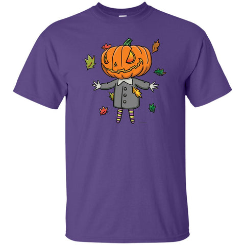Cute Jack-O-Lantern Short Sleeve Halloween Unisex T-Shirt featuring Jimmo Designs original well dressed, wickedly cute Jack! Not just for Halloween. If you like autumn, pumpkins and colorful foliage, this cute shirt is yours! Put it on and spread good vibes.
