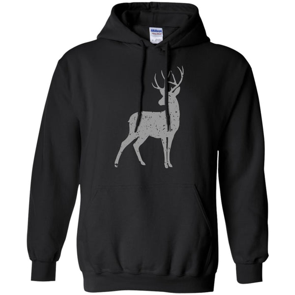 Grey Stag of the Season Animal Print Hoodie