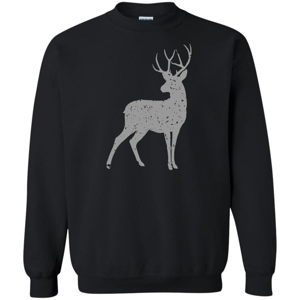 Grey Stag of the Season Animal Print Sweatshirt