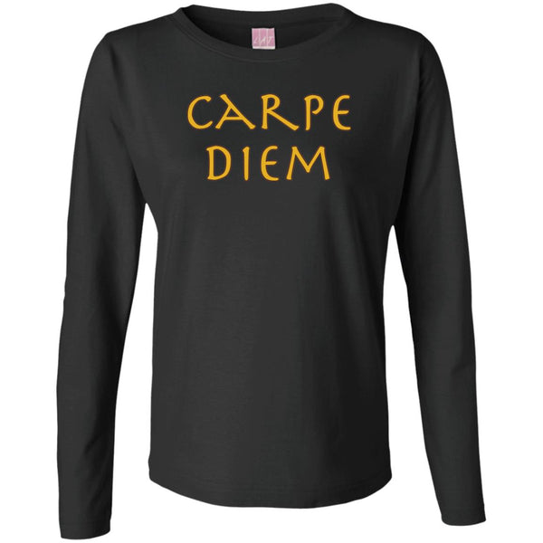 Carpe Diem Ladies' Motivational Long Sleeve T-Shirt