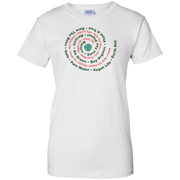Earth Day Eco Awareness Ladies' T-Shirt