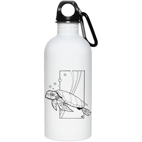 Sea Turtle by Dave Deitrick Stainless Steel Water Bottle
